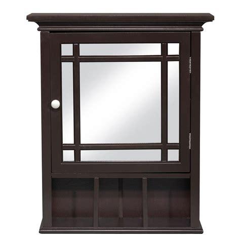 espresso bathroom medicine cabinet elegant home fashions albion 24 in h x 20 in w x 6 1 2 in d framed surface mount