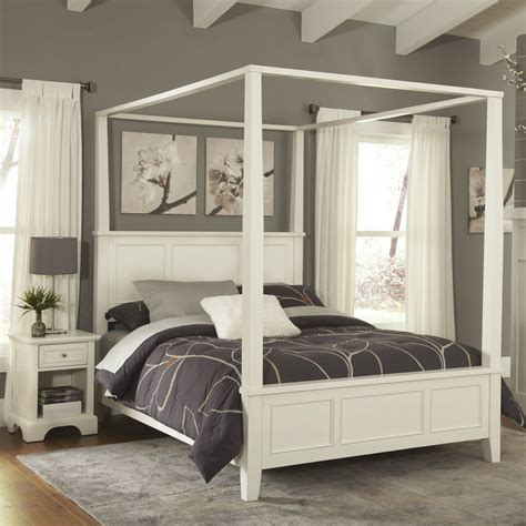 shop home styles naples white queen bedroom set  lowescom