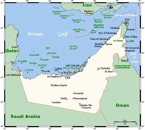 grid pattern human geography geography of the united arab emirates wikipedia