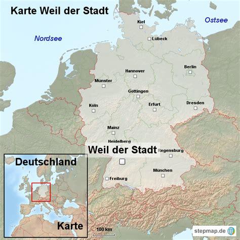 städtekarte deutschland karte weil der stadt ortslagekarte landkarte f 252 r