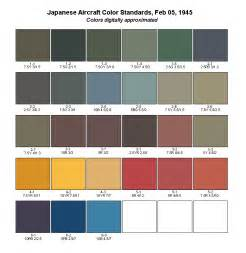 colors in japanese japanese aircraft color standards feb 05 1945