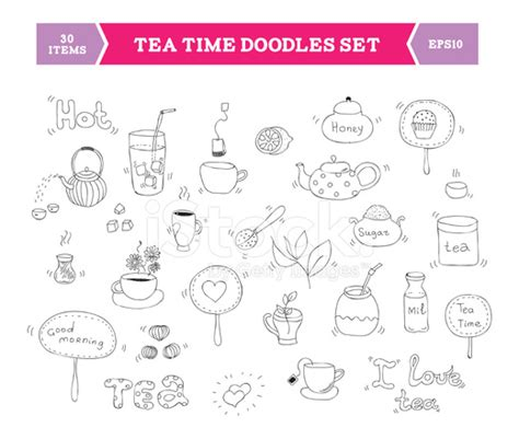doodle elements tea doodle vector elements stock photos freeimages