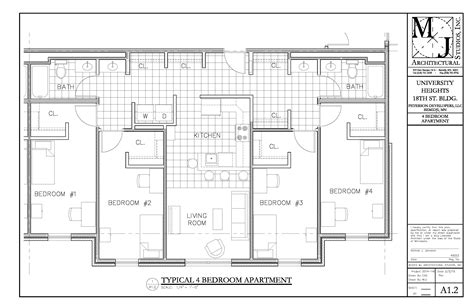 student accommodation floor plans gallery plans for university heights bsu news bemidji