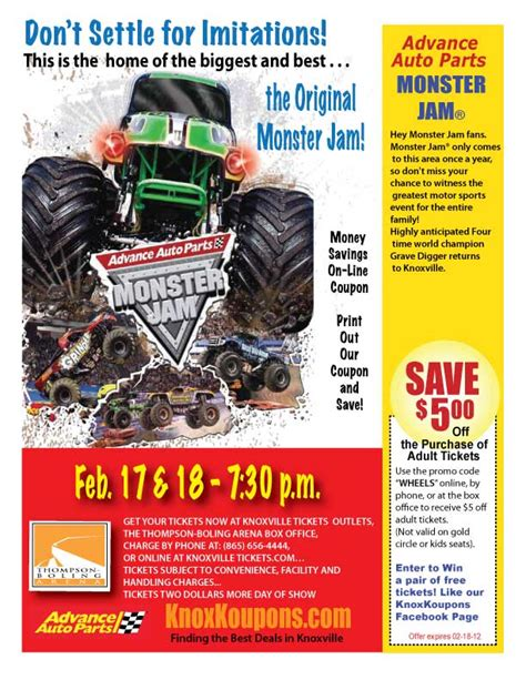 monster truck jam discount code the original monster jam in knoxville tennessee exciting
