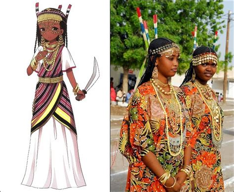 traditional clothes of afar people in djibouti ethiopia