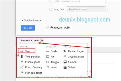 membuat kuesioner google form menggunakan google form untuk kuesioner online deuniv