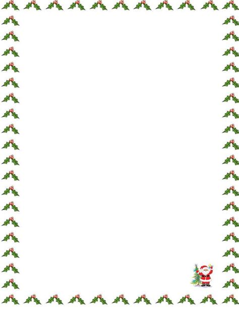 letter border templates free santa borders new calendar template site