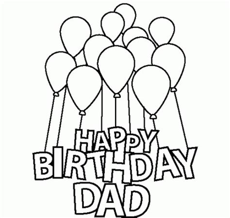 happy birthday coloring pages easy colorings happy birthday dad coloring cake drawing