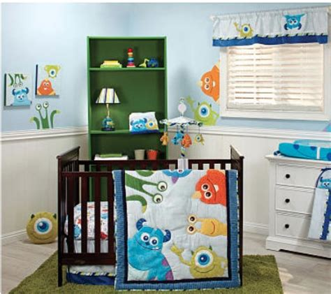 Monsters Inc 4 Piece Premier Crib Bedding Set Disney Baby Monsters Inc Crib Bedding Set