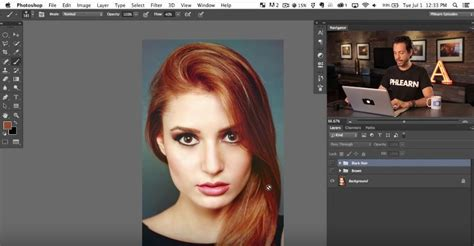 change hair color in photoshop changing hair color in photoshop much easier than doing it