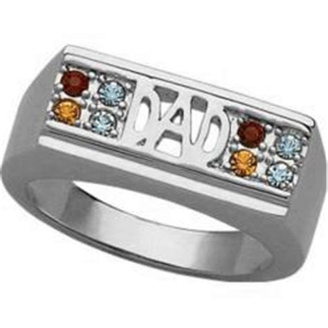 s platinum plated family birthstone ring