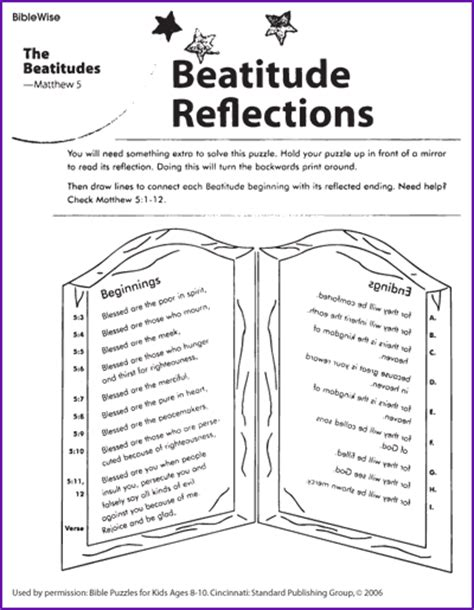 Beatitudes Printable Worksheets by Connect Jesus Beatitudes With It S Ending Korner