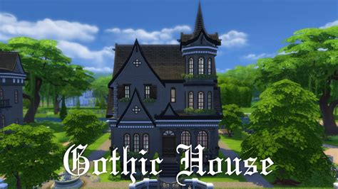 gothic house the sims 4 house building gothic house youtube