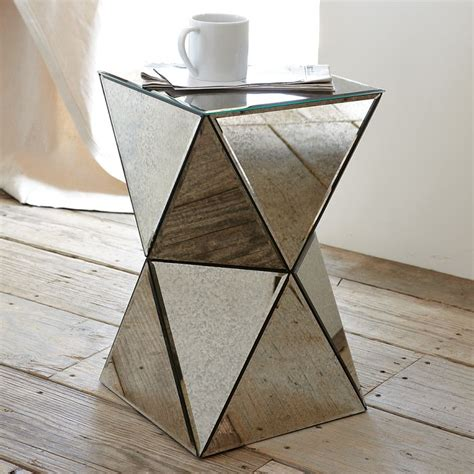 cool side tables a cool cubic shape makes this mirrored side table 159 originally mirror mirror on the