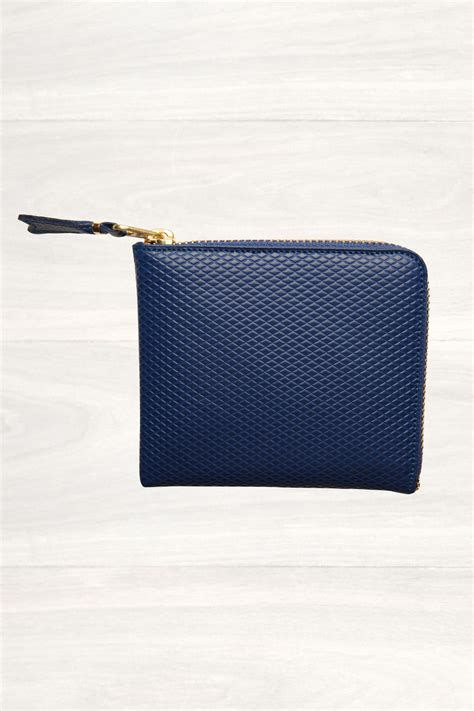 Half Zip Wallet comme des gar 231 ons luxury half zip wallet in blue for