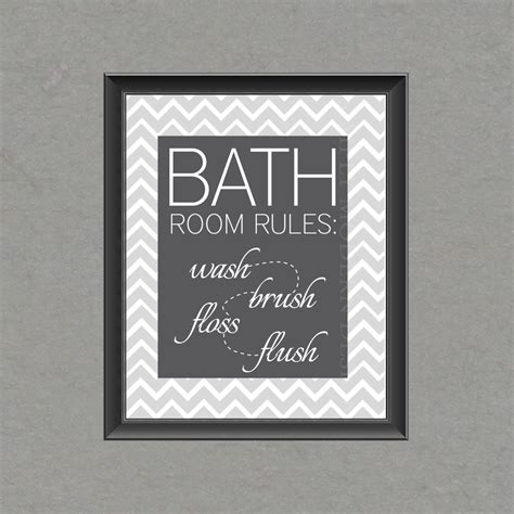 etsy bathroom wall art chevron bathroom wall art printable by simplymoderndesignx