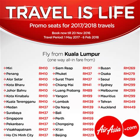 airasia promo tiket air asia travel is life promo seats travel hotel sale