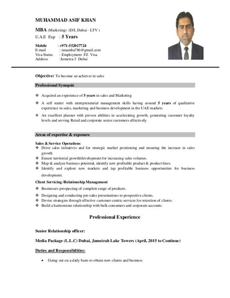 Mba Candidates With Five Years Experience by Mba Marketing 5 Years U A E Experience