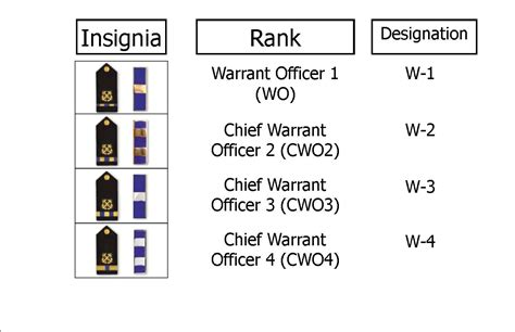 navy warrant officer rank structure