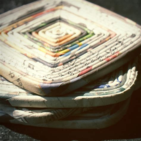 How To Make Paper Coasters - crafts with newspaper