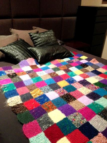 knitted patchwork throw chan shaw
