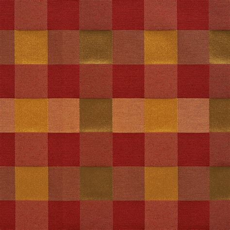 red check upholstery fabric red peach and green large 4 color check faux silk