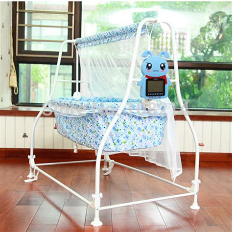 automatic swinging bassinet 100 cotton cloth baby cribs intelligent automatic shaker