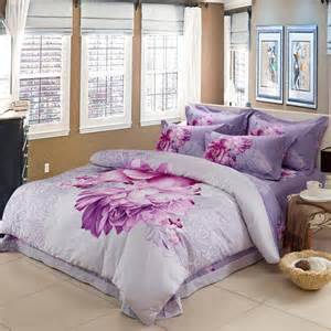 Bedding Sets College Lavender Purple And White Beautiful Floral Print