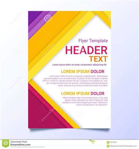 Poster Text Template flyer template in a material design style modern poster