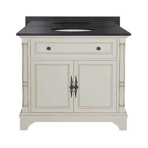 White Granite Vanity Top by Albertine 37 In W Vanity In White With Granite Vanity Top In Black Abcwvt3722d The