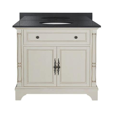 albertine 37 in w vanity in white with granite