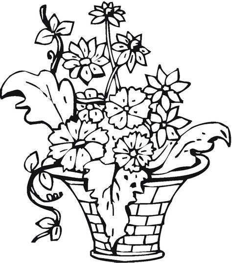 Flowers In Vase Coloring Pages by Best Photos Of Vase Pattern Color Page Flower Vase Coloring Page Coloring Pages Flower