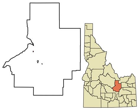 Butte County Search File Butte County Idaho Incorporated And Unincorporated Areas Highlighted