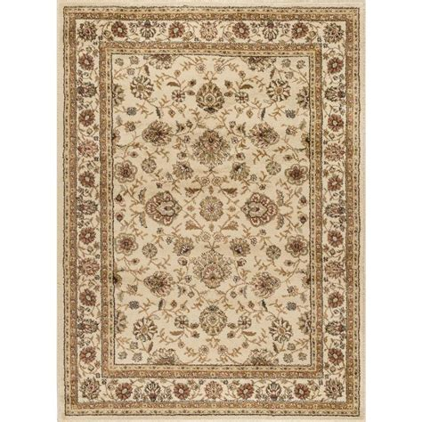 Rugs 5 X 7 by Shop Tayse Elegance Beige Rectangular Indoor Machine Made Area Rug Common 5 X 7 Actual 5 Ft