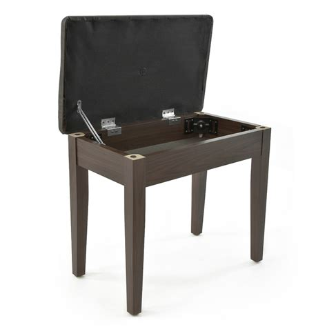 sgabello pianoforte sgabello pianoforte con storage gear4music palissandro