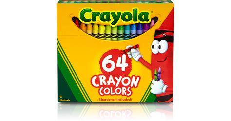 crayola regular size crayon 64pk bin64 crayola llc