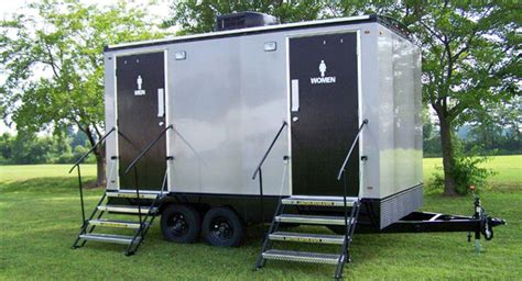 Trailer Bathroom Rental by Portable Toilets Porta Potty Portable Luxury Restrooms