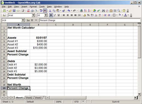 Asset Spreadsheet by Building Your Own Monthly Net Worth Calculator Using A