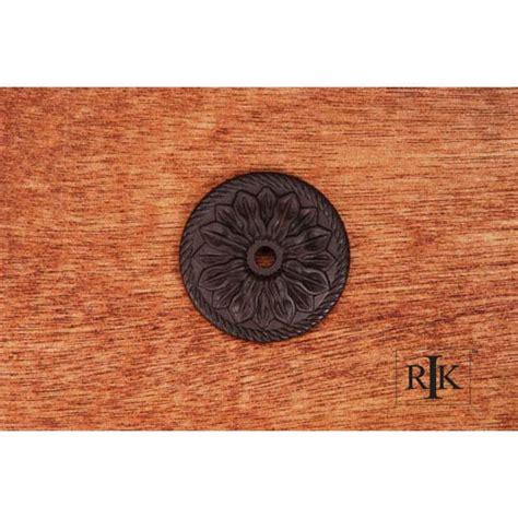 cabinet knob backplates rubbed bronze rubbed bronze flower knob backplate rk international