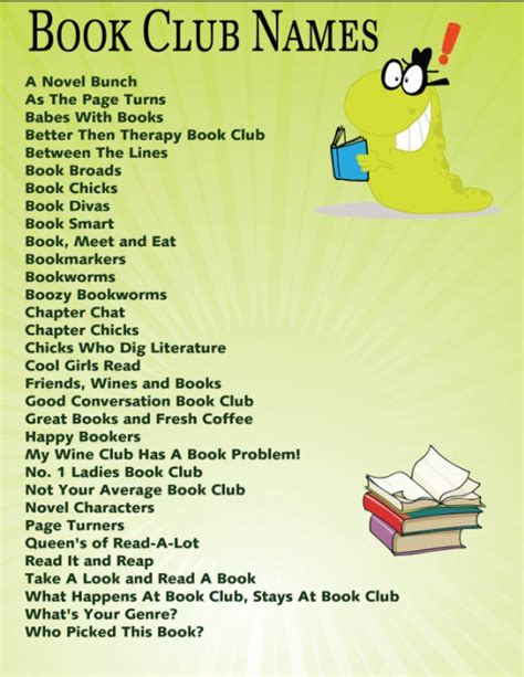 Mba Books Name by Book Club Names Hubpages