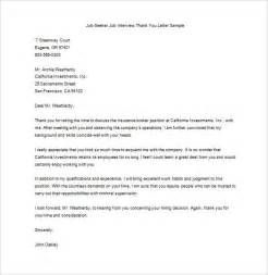 Thank You Letter After Template by Sle Thank You Note After Cover Letter Templates