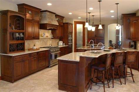 colors for kitchens with light cabinets santa cecilia light granite kitchen traditional with dark