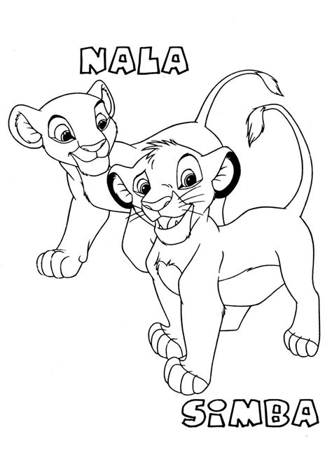 Printable Simba Coloring Pages Coloring Me Nala Coloring Pages