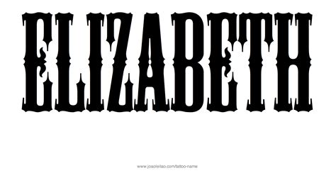 elizabeth name tattoo designs