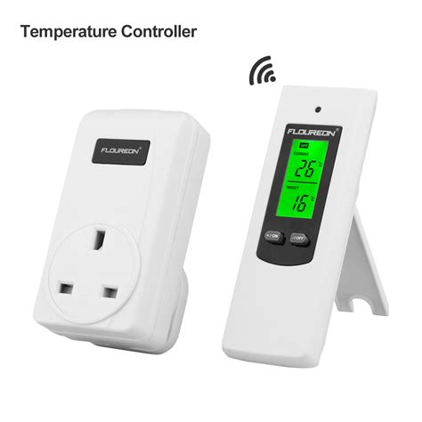 greenhouse thermostat fan control wireless remote control rf plug in thermostat