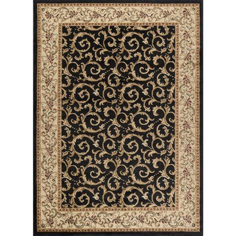 home depot rugs 8x10 tayse rugs elegance black 7 ft 6 in x 9 ft 10 in indoor area rug 5403 black 8x10 the home