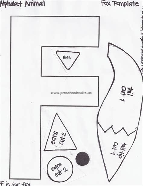 template for preschool letter f fox template for preschool preschool crafts