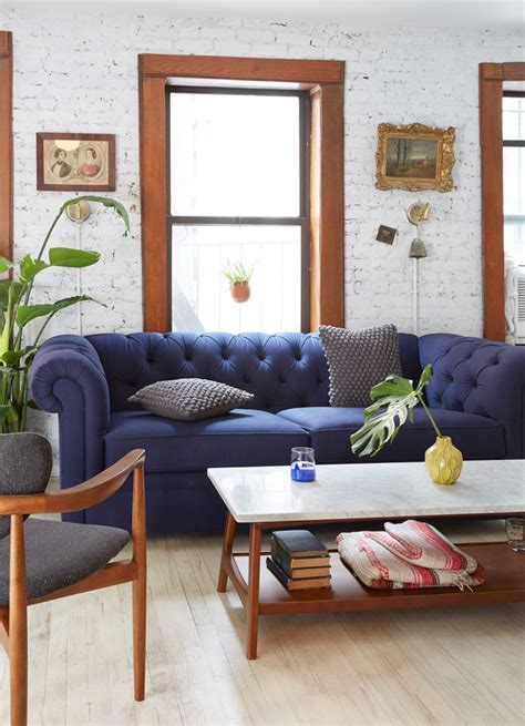 Blue Sofa In Living Room Scandinavian Design For Small Living Rooms