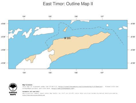east timor maps map east timor ginkgomaps continent asia region east timor