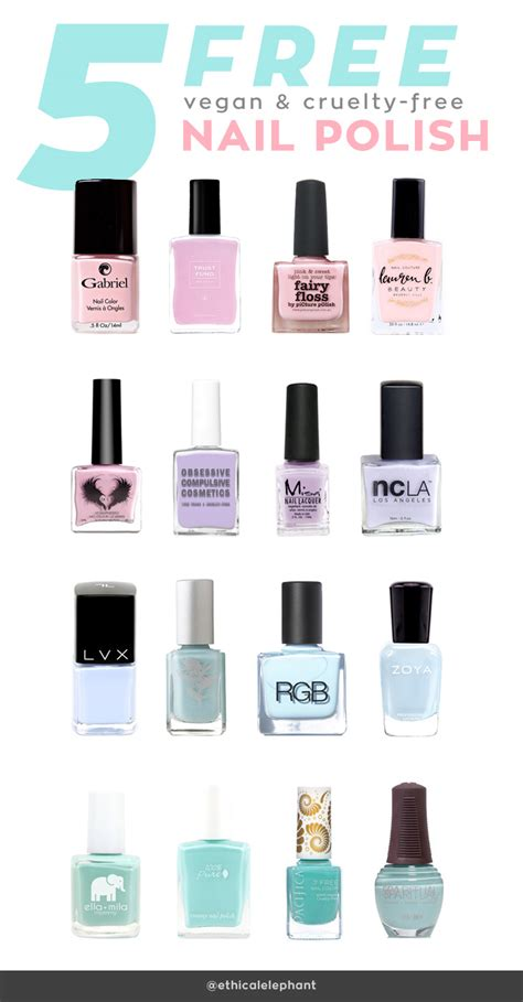 nail brands list of 5 free vegan and cruelty free nail brands